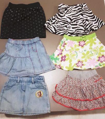 zestaw 6 spódniczek dla dziewczynki r.80-104
