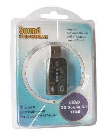 Звуковая карта USB 3D sound 5.1 для ноутбука,ПК Sound audiocontroller