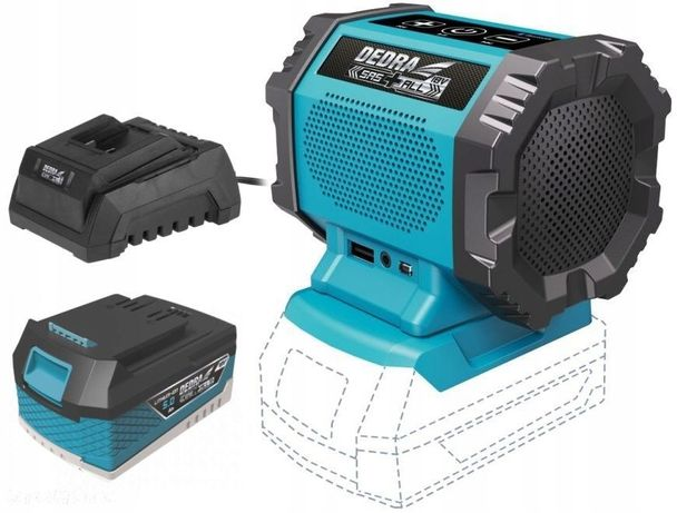 GŁOŚNIK Bluetooth AKUMULATOROWY 18V DEDRA + 5Ah