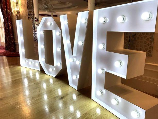 Napis LOVE 100 cm podświetlany NOWY