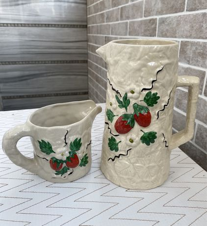 Кувшин и молочник керамические