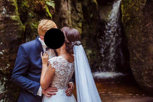 Suknia ślubna ivory Boho tiul