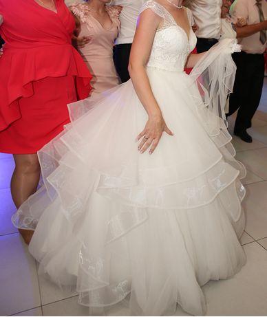 suknia ślubna monica loretti nika + rufle