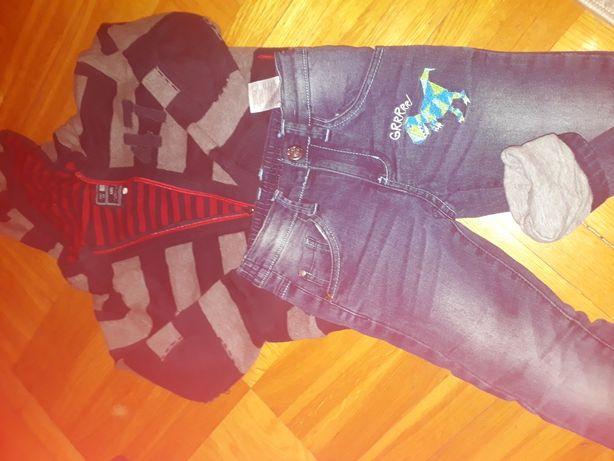 Spodnie i sweterek 116