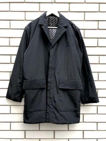 Черный мужской плащ,куртка,тренч пальто louis vuitton оригинал