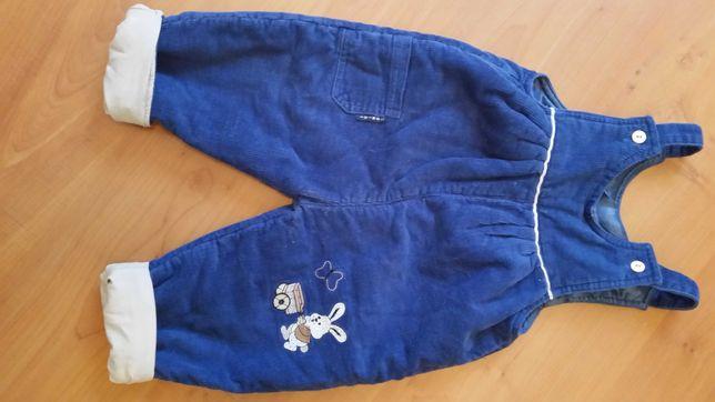 Spodnie ocieplane sztruksowe 80 Zamienię