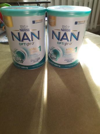 Nan optipro 1 смесь 2 банки по 400гр.