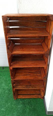 Regał drewniany loft