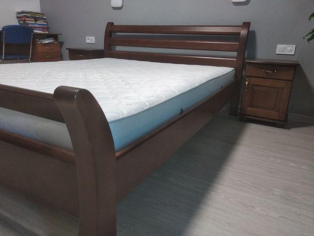 Ліжко букове двоспальне 160х200 з тумбами, нове, Estella Diana