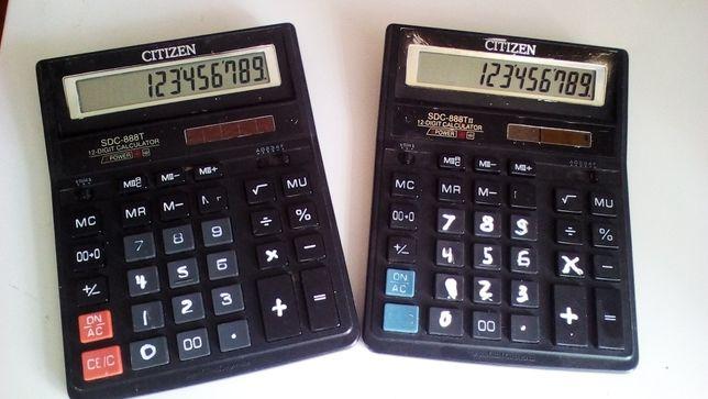 Калькуляторы Citizen SDC-888T, SDC-888TII (2 шт)