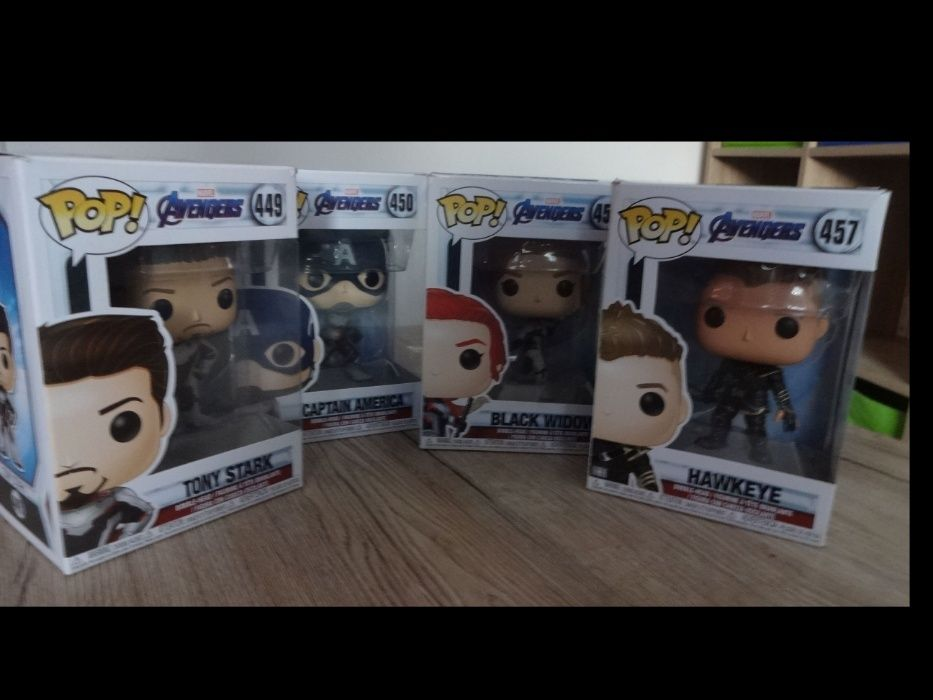 Funko Pop - Tony Stark, Captain America, Black Widow, Hawkeye Częstochowa - image 1
