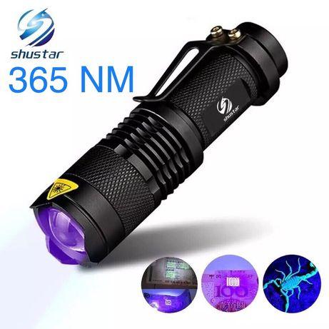 Ультрафиолетовый фонарик 365 nm УФ UV детектор банкнот
