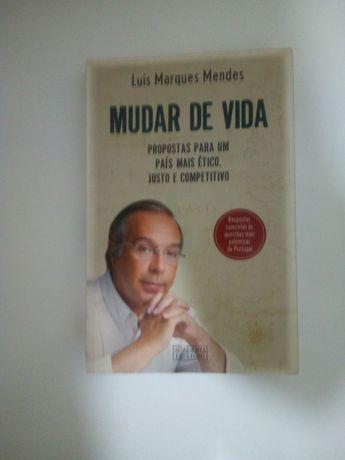 Livro (Mudar de Vida) Luís Marques Mendes