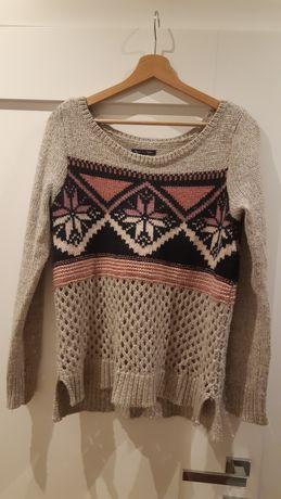 Sweter American Eagle Outfitters rozmiar M, ciepły, szary, damski
