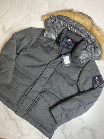 Сезонная расродажа Куртка Tommy Hilfiger серый л новая оригинал
