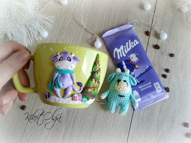 Ноборы Новогодние Кружка Игрушка Шоколад Подарок Чашка с декором