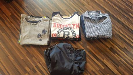 Ubrania bluzki kurtka primark 110/116 chlopiece koszulki + bluzy 122
