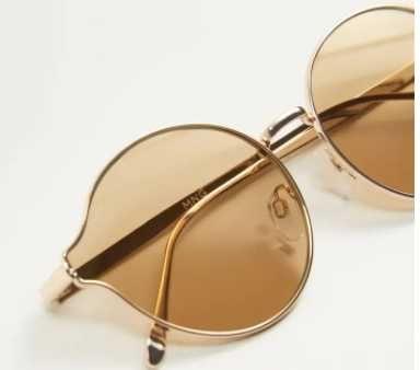 Прикольные очки Манго Ретро стиль mango коричневые очки