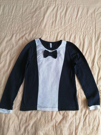 Трикотажная блузочка\кофточка для девочки, р.122
