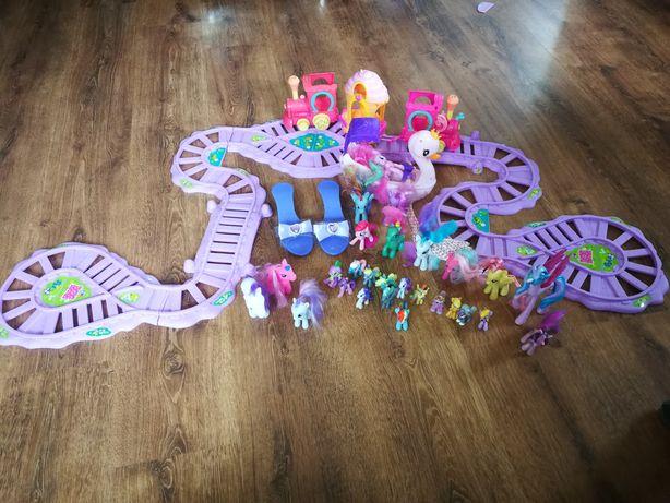 Zestaw kucyki pony, kolejka przyjazni, Pinky pie w Łodzi ,kucyki, buty