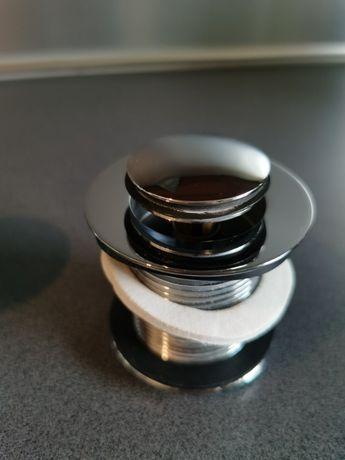 Korek umywalkowy click clack bez przelewu