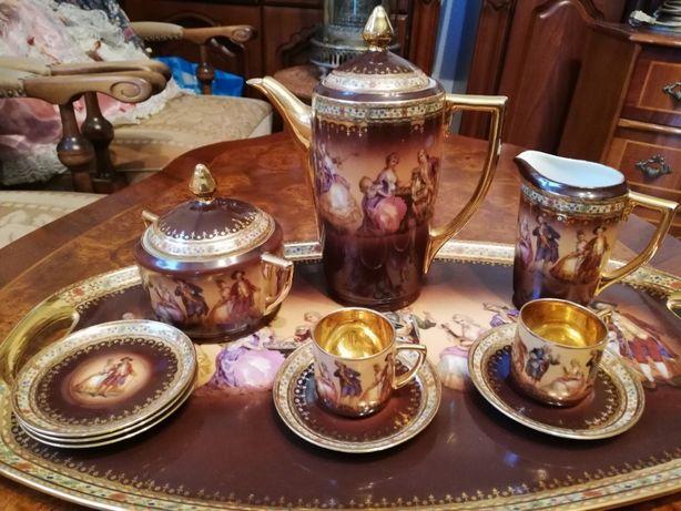 Serwis espresso porcelana Wiedeń. Czechoslowakia