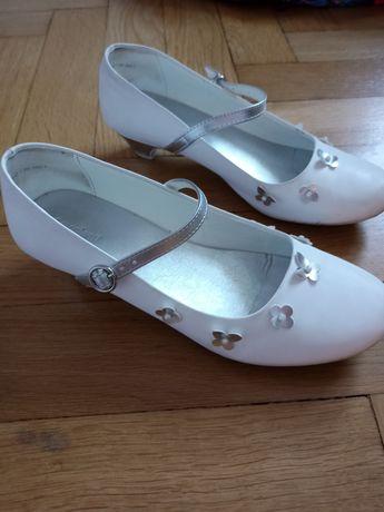 Buty komunijne śnieżnobiałe rozmiar 37
