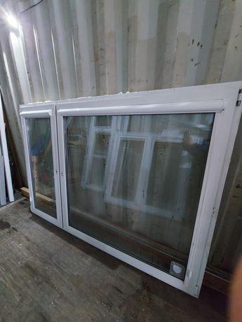 Okna PCV dwuskrzydłowe