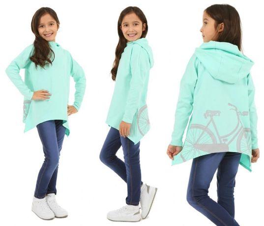 Bluza asymetryczna oversize dziewczynka 152/158
