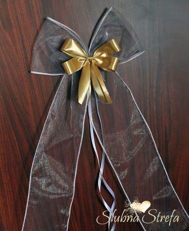 Kokarda ozdobna kokarda na ślub wesele kokardka dekoracyjna