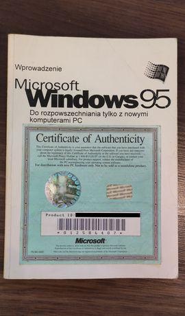 Książka instrukcja z certyfikatem do Windows 95