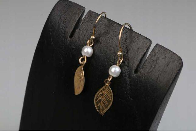 17) Kolczyki srebro złocone