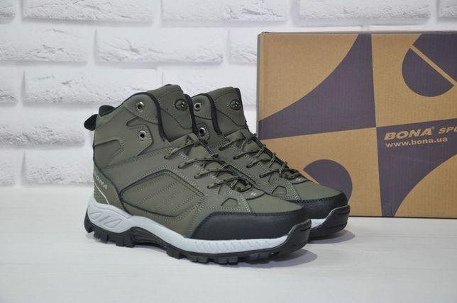 Кожаные зимние кроссовки ботинки Bona мужские зимние кроссовки Бона