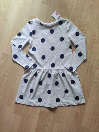 Nowa sukienka w grochy rozmiar 128