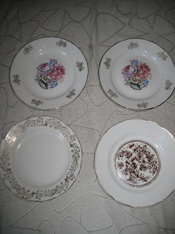 Тарелки 4 шт. разные (2+1+1), СССР, 1980-е гг.
