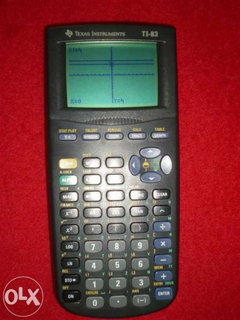 Calculadora gráfica texas instruments ti 83, semi nova