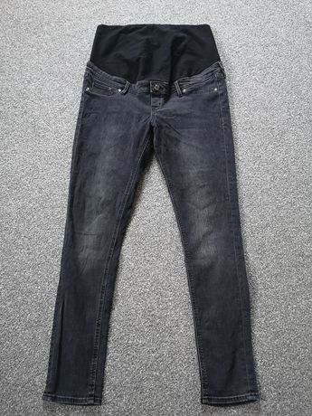 Spodnie ciążowe jeansy H&M MAMA Skinny czarne 44