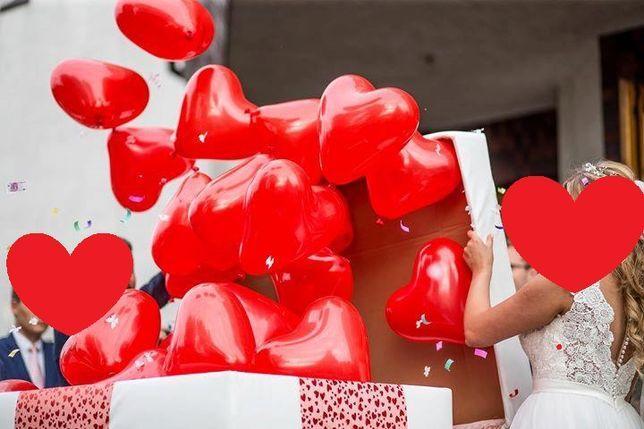 Balonowe pudło na ślub balony hel prezent balon!