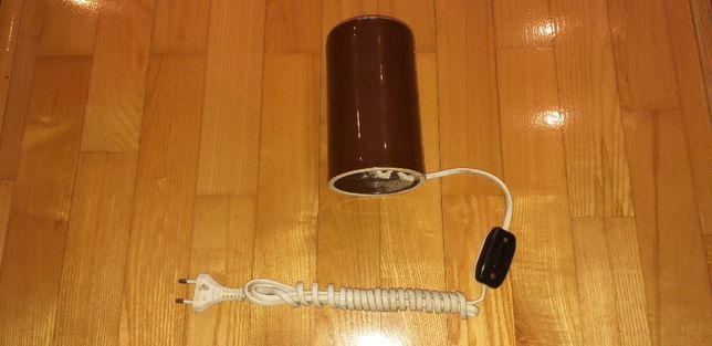 Lampka lampa prl ceramiczna włącznik bakelit stojąca loft pocelana
