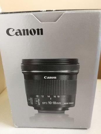 Canon EF-S 10-18 4.5-5.6 jak nowy gwarancja - Sigma MC-11 Sony E