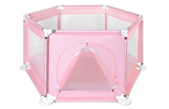Манеж детский 2 цвета аквамарин и розовый дитячий манеж сухой басейн