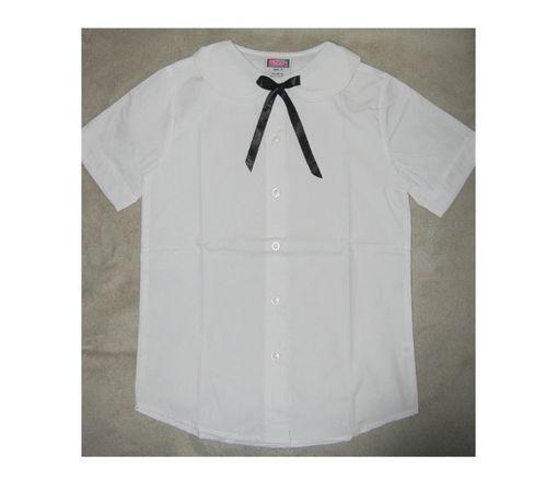 Рубашка для девочки блузка школьная белая с коротким новая США