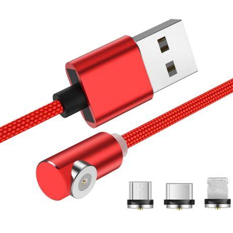 Przewód KABEL MAGNETYCZNY obrotowy Ładowarka USB Typ C mini USB IPHONE