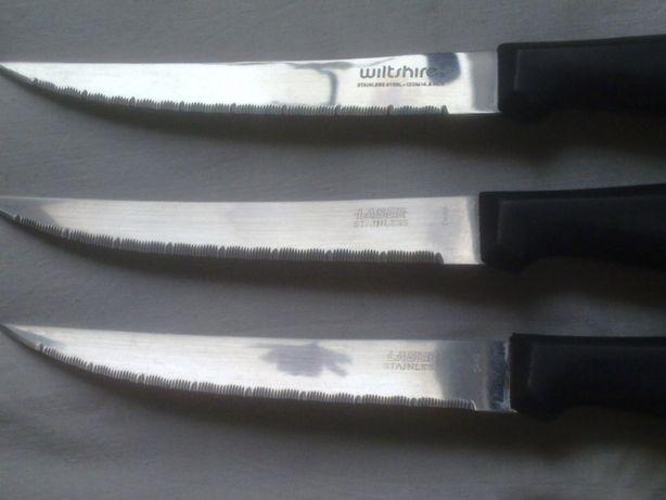 """Кухонные ножи с пилочными лезвиями, лазерная сталь, """"Laser stainless"""""""