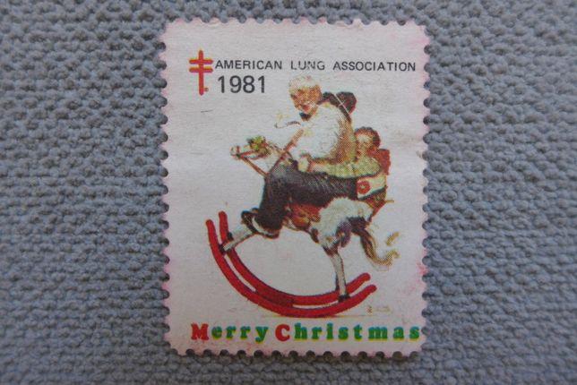 FILATELISTYKA stary znaczek pocztowy amerykański 1981 USA unikat