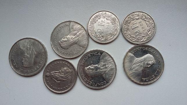 Stare monety franki euro
