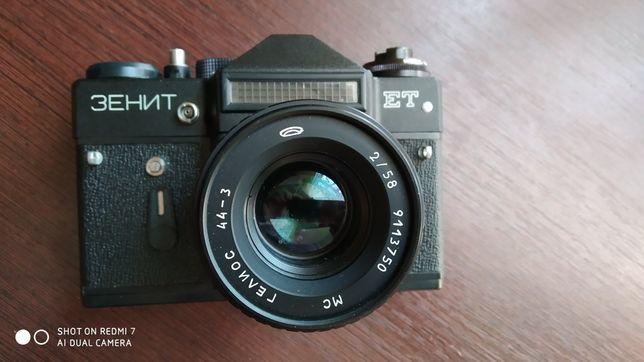 Зеркальный фотоаппарат Зенит-ЕТ+ переходные кольца