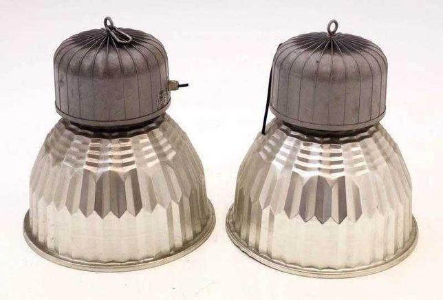 2 Candeeiros Focos Industriais Armazém Iluminação vintage campânula