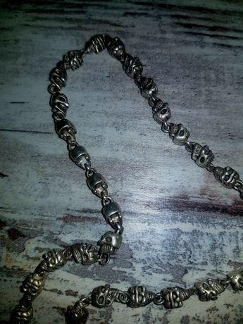 Серебрянная цепь баракка черпа ручная работа 90 грамм