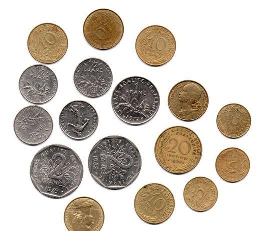 moedas Francesas varias ano 1962 a 1996